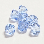 Light Sapphire 6mm Swarovski Xilion Bicone, Pkg. of 12